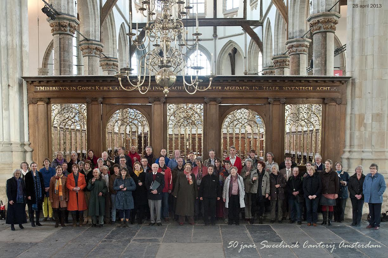 50 jaar Sweelinck Cantorij - groepsfoto reunie